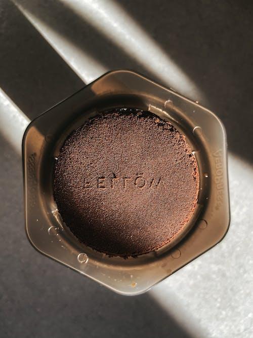 Fresh aromatic coffee in manual coffeemaker