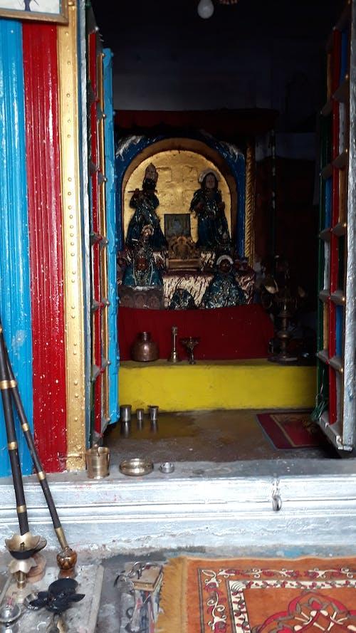 インドの寺院の中の無料の写真素材