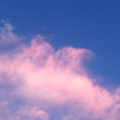 Free stock photo of blue sky, pink clouds