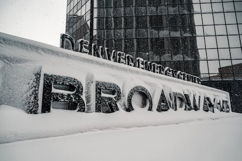Free stock photo of archicture, blizzard, brown palace