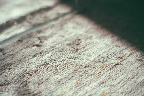 Textured rug in light room