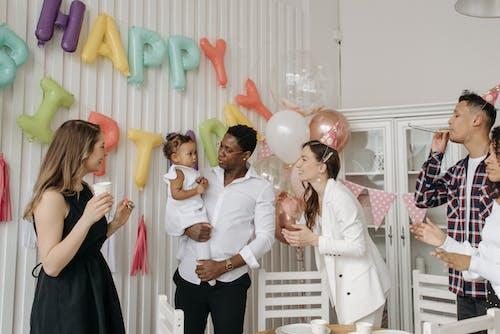 Group of People Celebrating Child Birthday