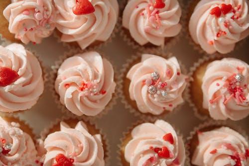 Close-Up Photo of Pink Cupcakes
