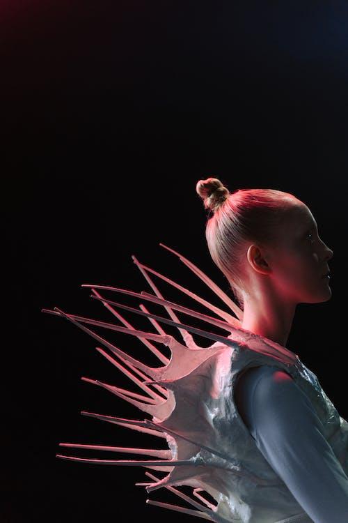 Woman Wearing an Alien Costume