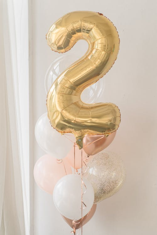 Golden Number Shaped Balloon for Birthday