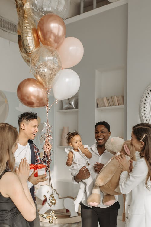 Birthday Celebration at Home with Balloons