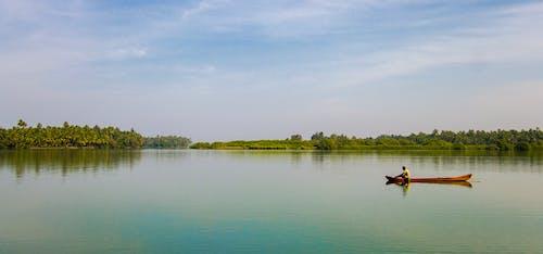 Free stock photo of backwaters, fisherman, fishing