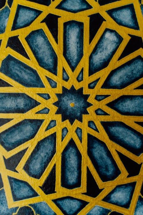 Yellow and Black Sun Illustration