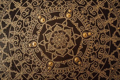 Close-Up Shot of a Mandala Painting