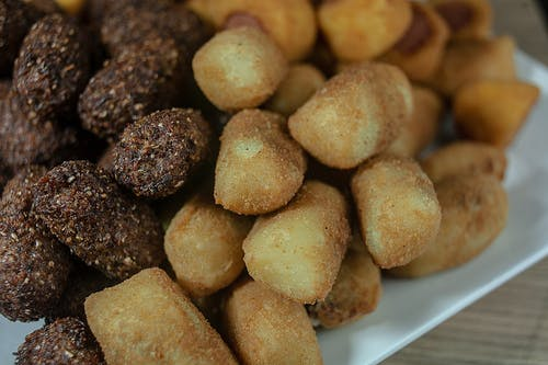Free stock photo of american food, brazilian rissoles, cocacola