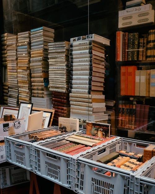 도서의 스택, 무리, 문학의 무료 스톡 사진