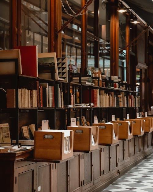 Kostenloses Stock Foto zu bibliothek, bücher, bücherregale