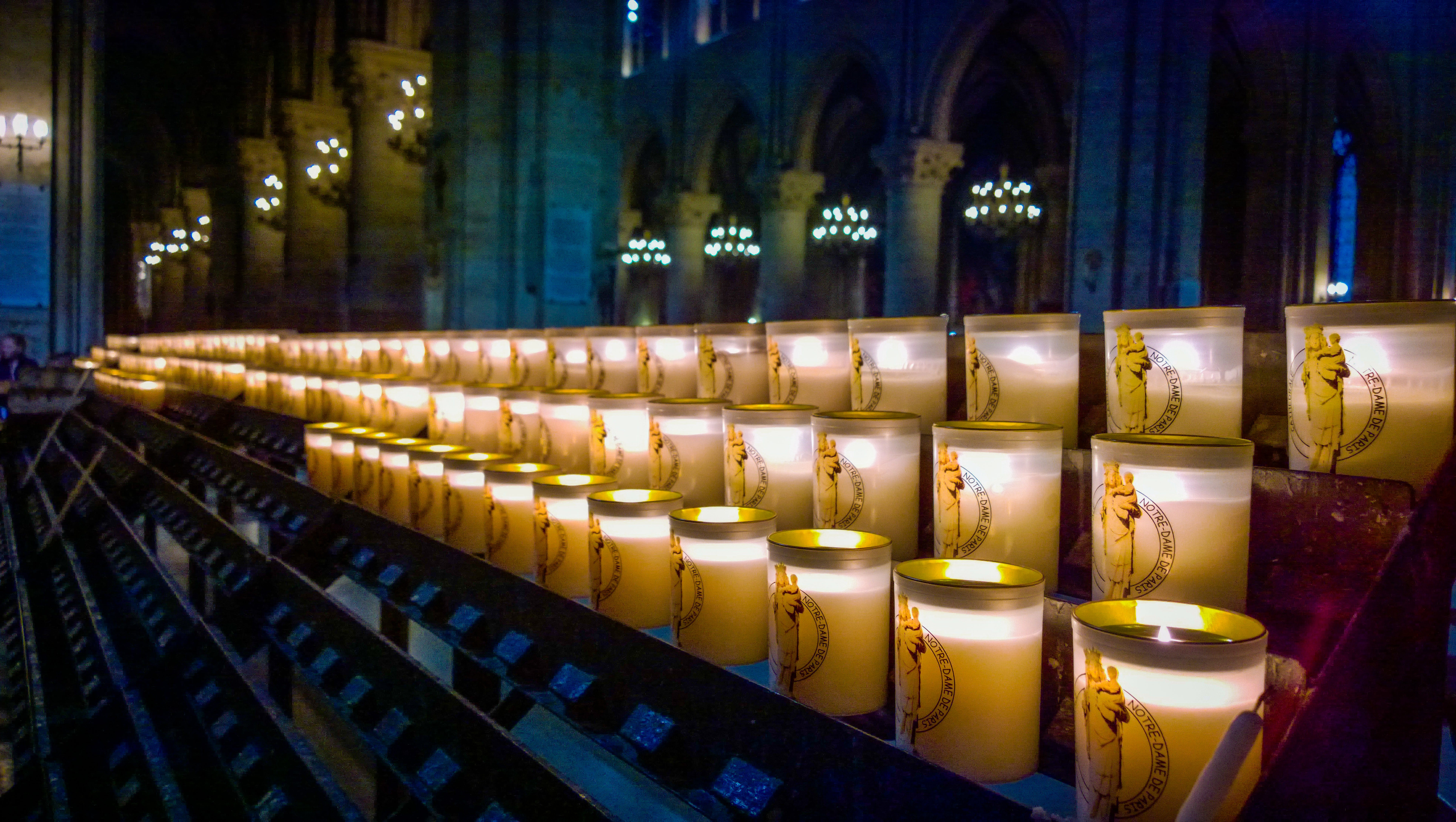 Free stock photo of candles, church, notre dame, worship