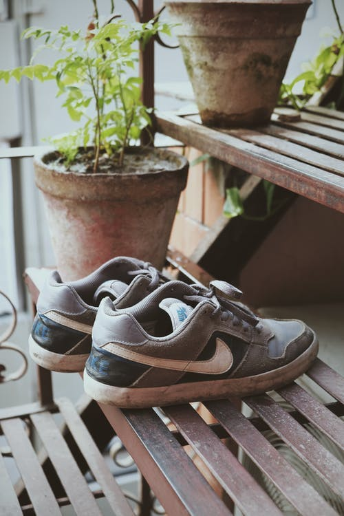 Close Up Shot of Nike Shoes
