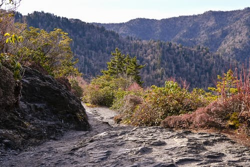 Gratis stockfoto met pad, rokerige bergen, spoor
