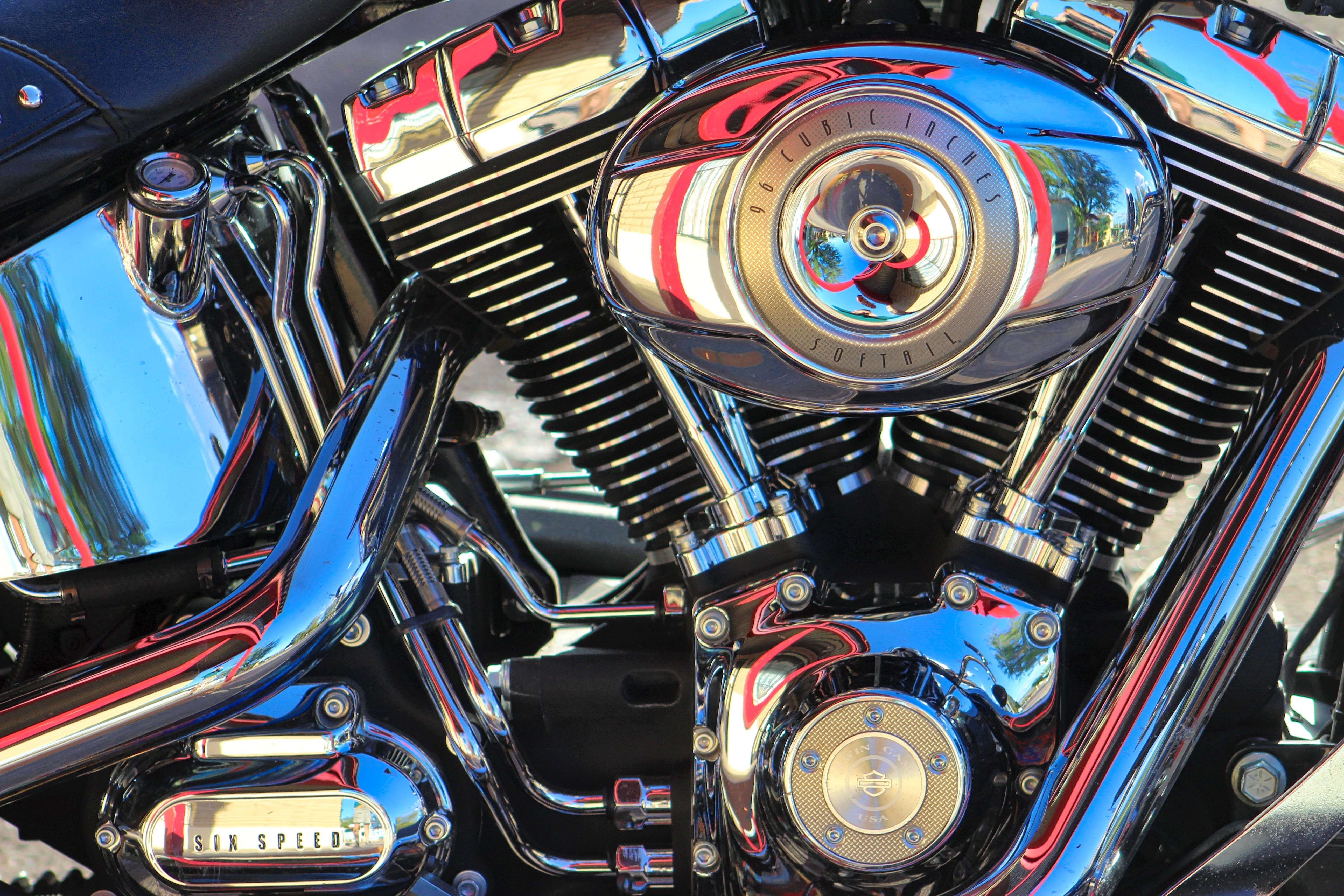 Free stock photo of motorcycle engine