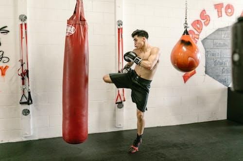Бесплатное стоковое фото с Активный, боксерская груша, голый торс
