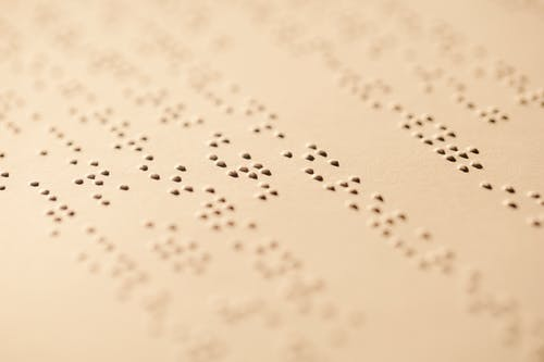 Close-Up Photo Of Braille