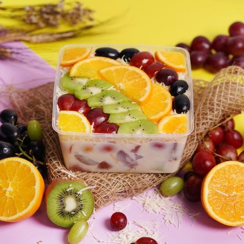 Fruit Salad in Brown Woven Basket