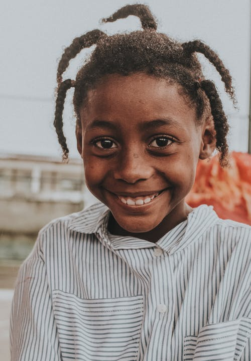 Close-Up Shot of a Girl Smiling