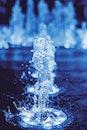 lights, water, blue