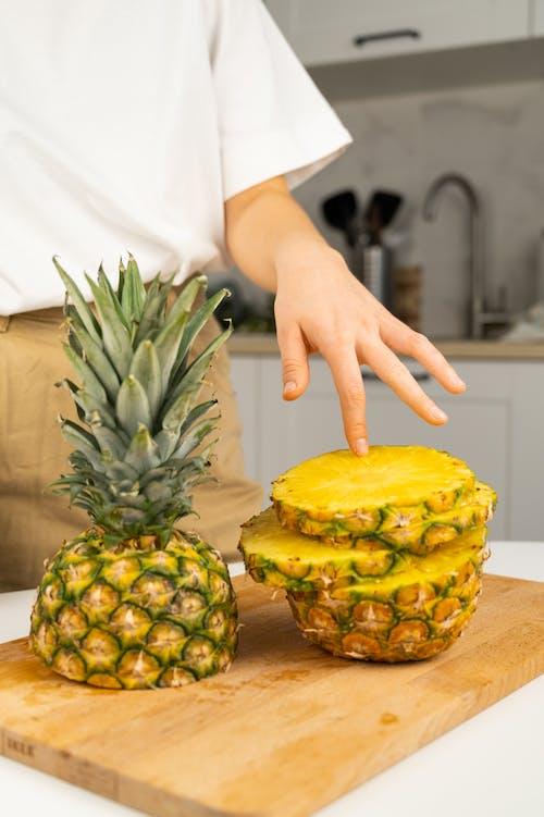Foto profissional grátis de abacaxi, agradável, amarelo