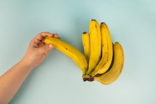 Person Holding Yellow Banana Fruit