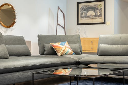 Interior of cozy modern living room