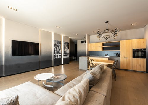 Apartment with kitchen and TV