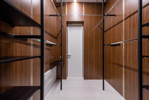 Empty dressing room with door