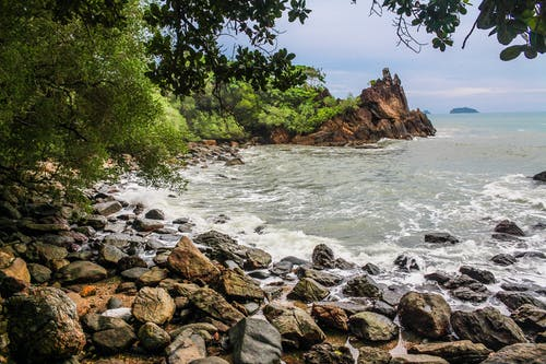 Fotobanka sbezplatnými fotkami na tému breh, kamene, krajina, krajina pri mori