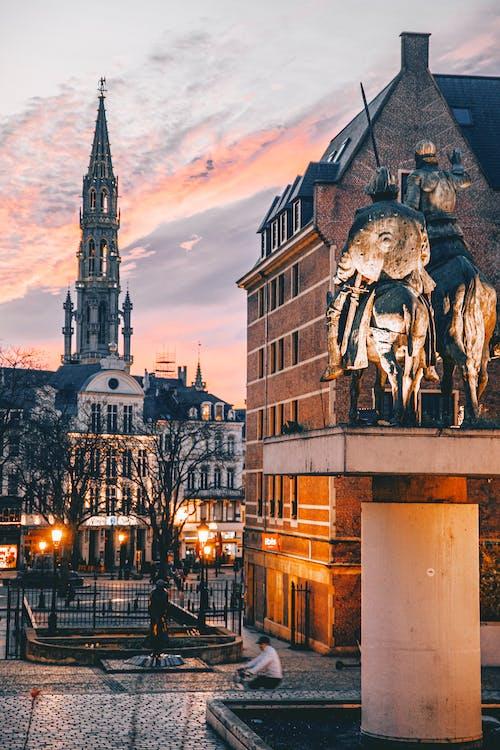 Free stock photo of architecture, at night, belgium