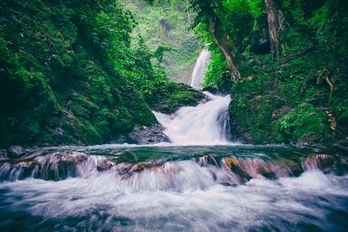 Бесплатное стоковое фото с вода, водопады, всплеск, гора
