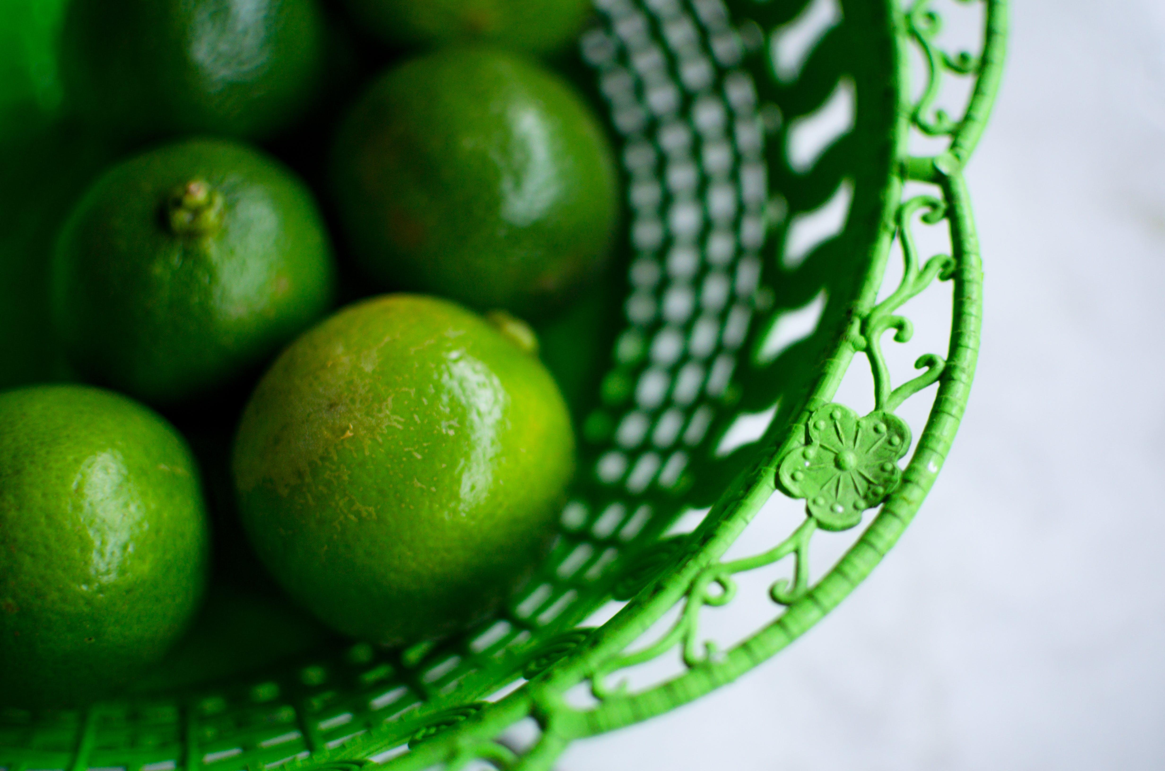 Free stock photo of flower, green, lemons, basket