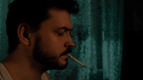 Free stock photo of cinematic smoker