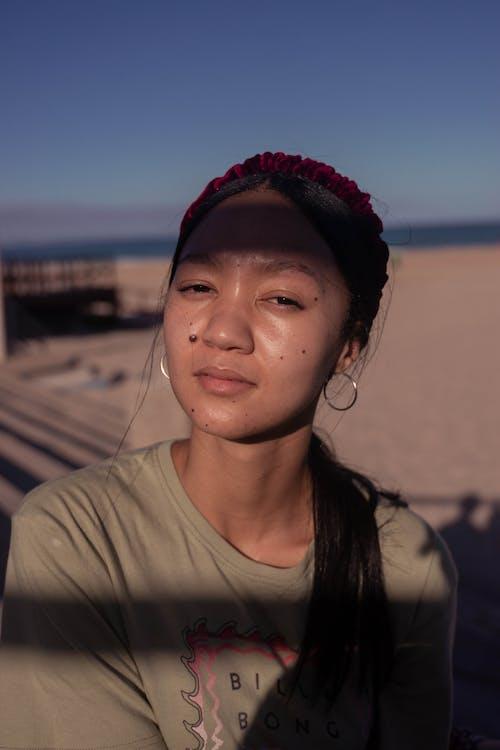 Free stock photo of aesthetics, beach girl, beach sunset
