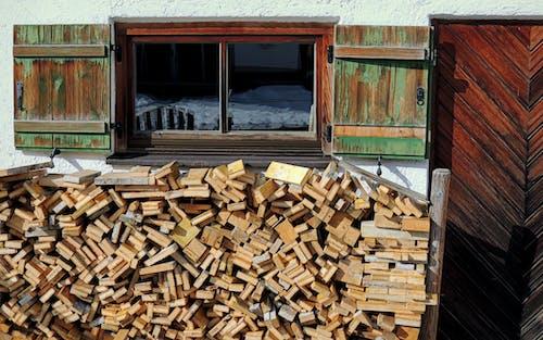 Free stock photo of farmhouse, firewood, stacked wood
