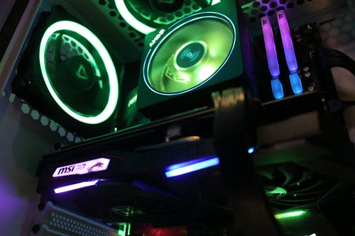 Free stock photo of gaming pc inside, gaming rig, MSI