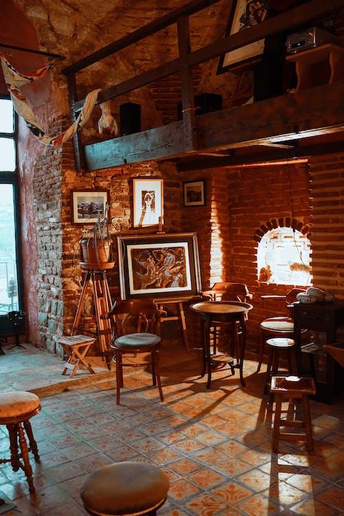 Gratis stockfoto met bakstenen muur, balk, bar
