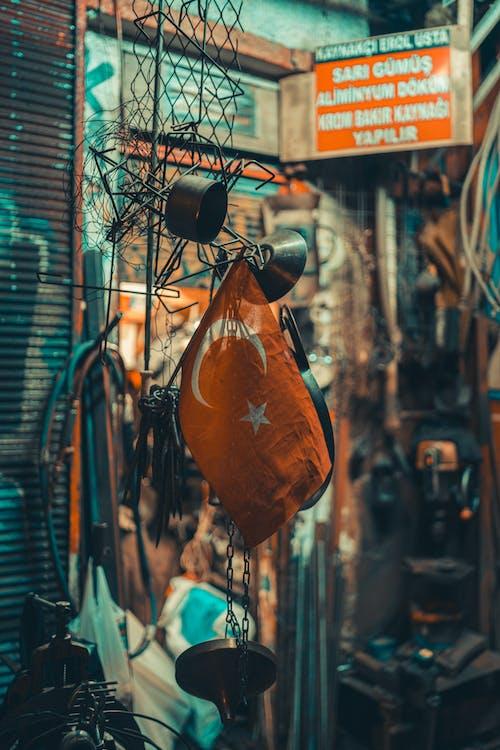 Orange and Black Hanging Decor