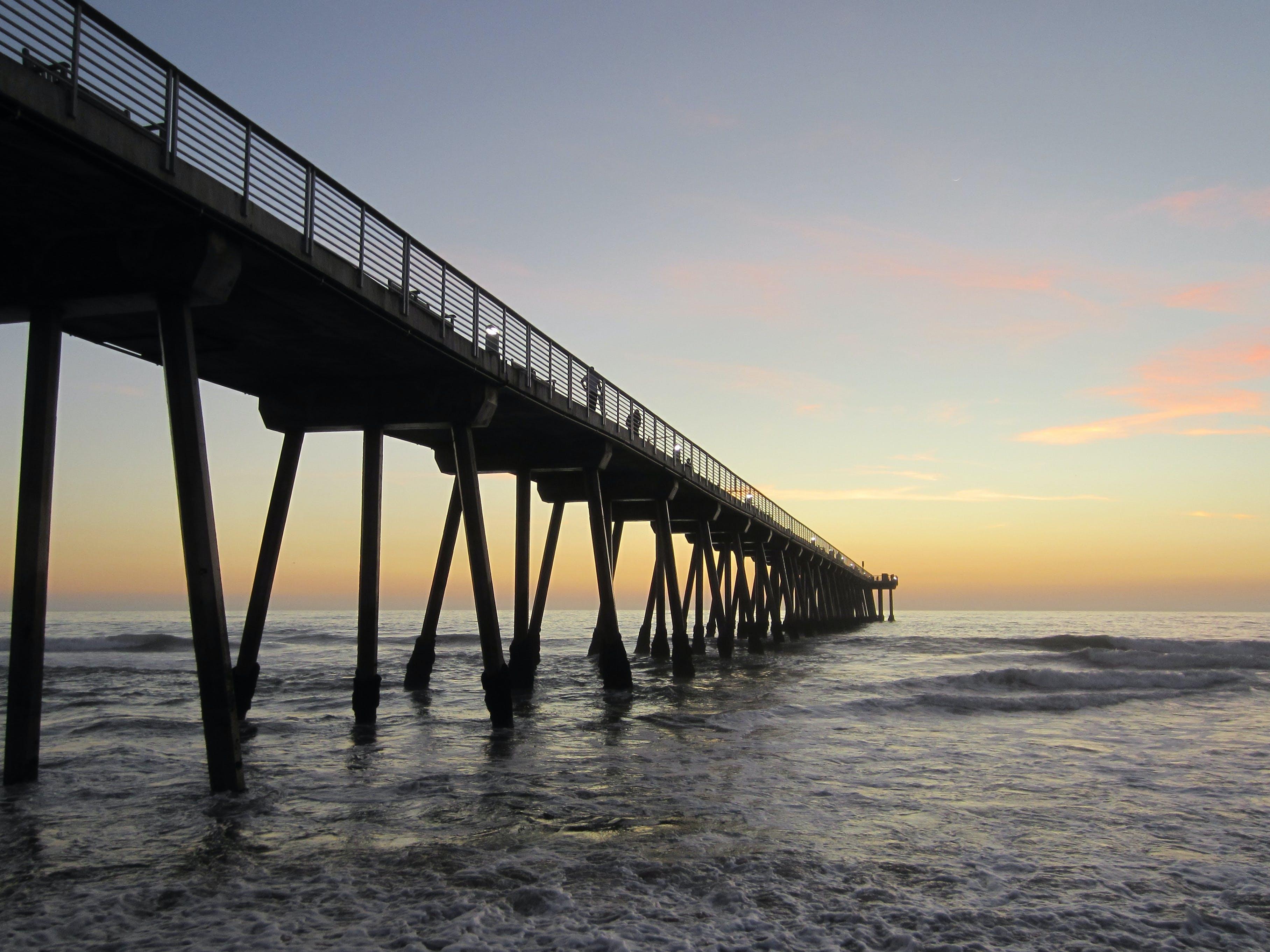 Základová fotografie zdarma na téma moře, oceán, přístavní můstek