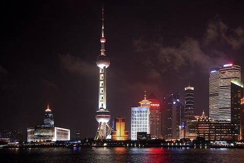 Ảnh lưu trữ miễn phí về ban đêm, bờ sông, các tòa nhà, cảnh quan thành phố