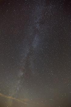 Free stock photo of sky, night, dark, milky way