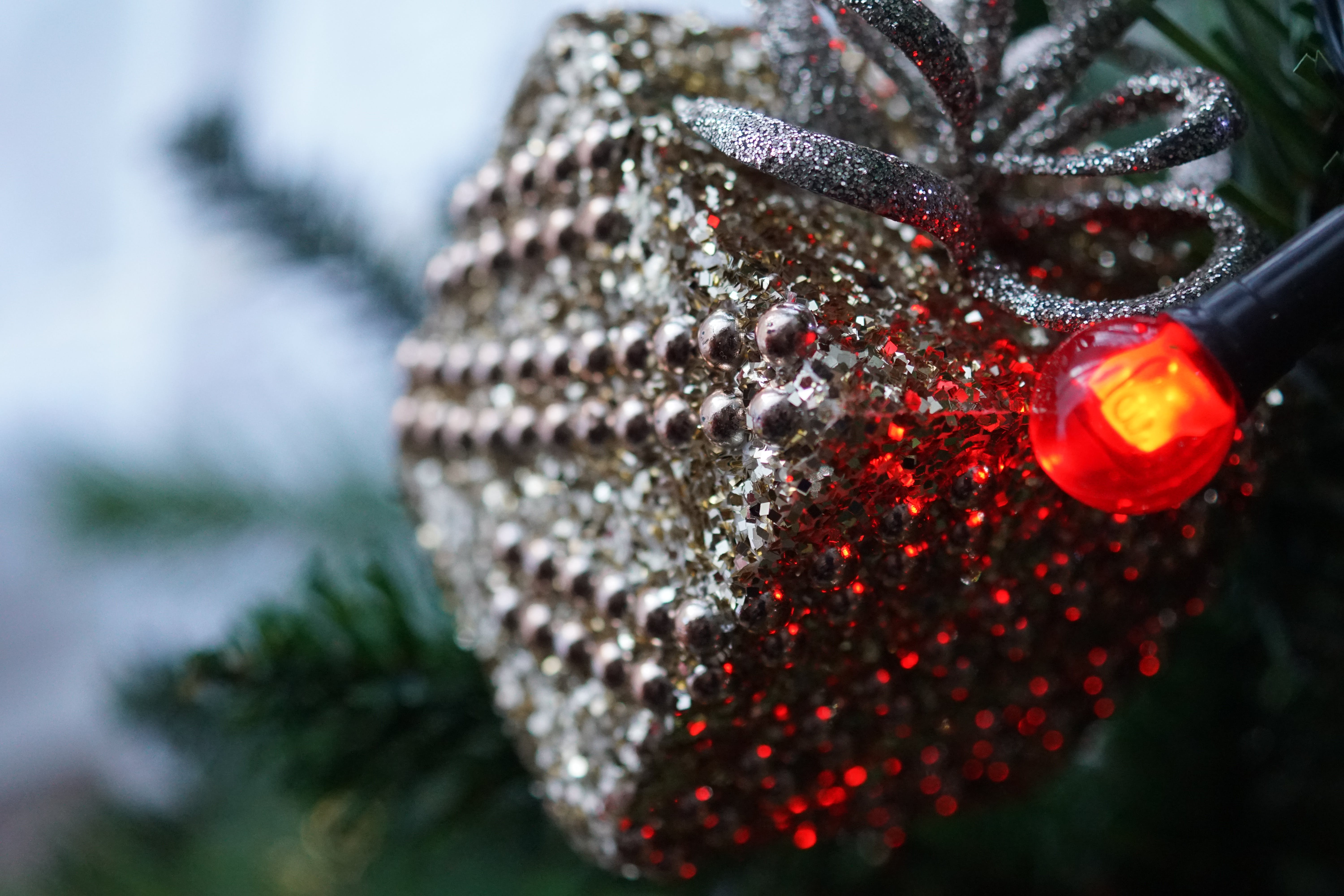 Closeup Photography of Grey Bauble