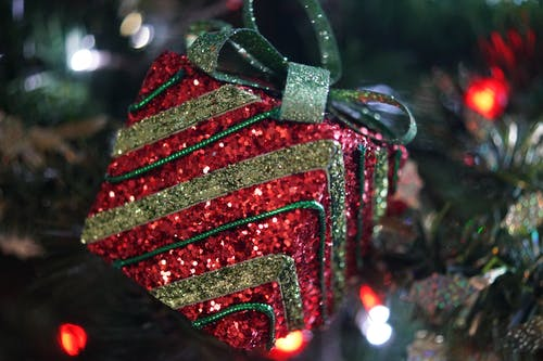 Red and Green Christmas Tree Decor