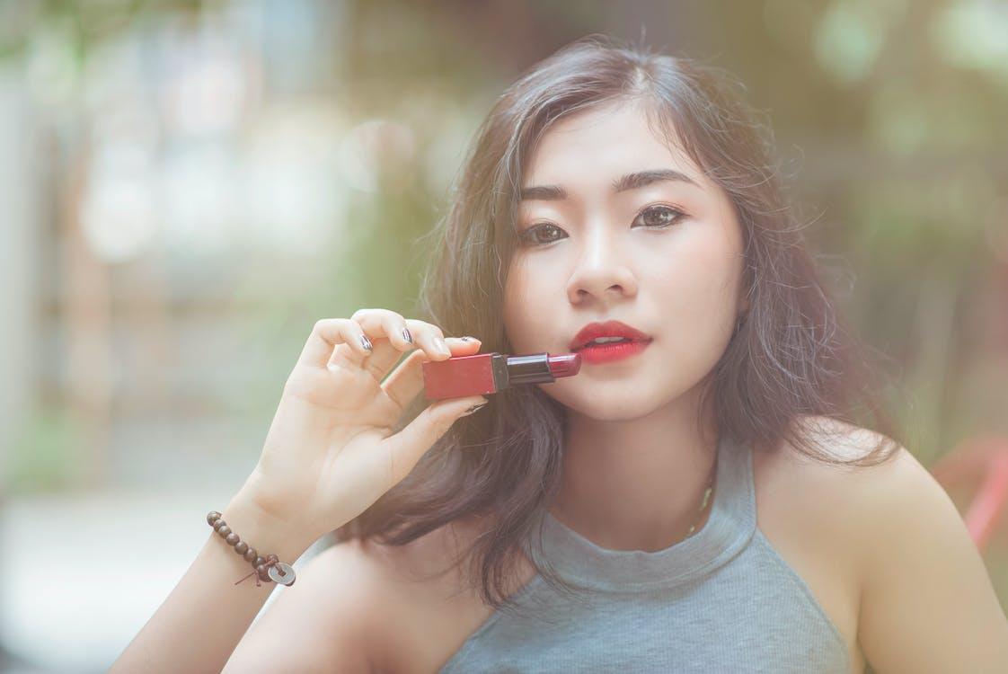atraktívny, ázijské dievča, ázijský