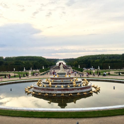 Free stock photo of day, fountain, french, garden