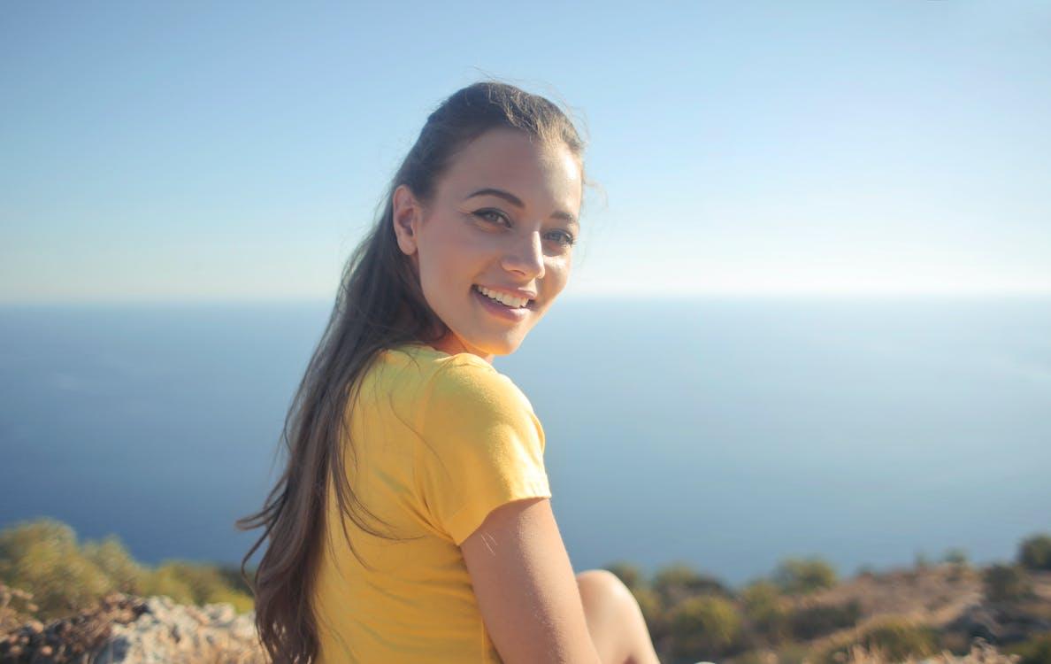 Woman Wearing Yellow Shirt