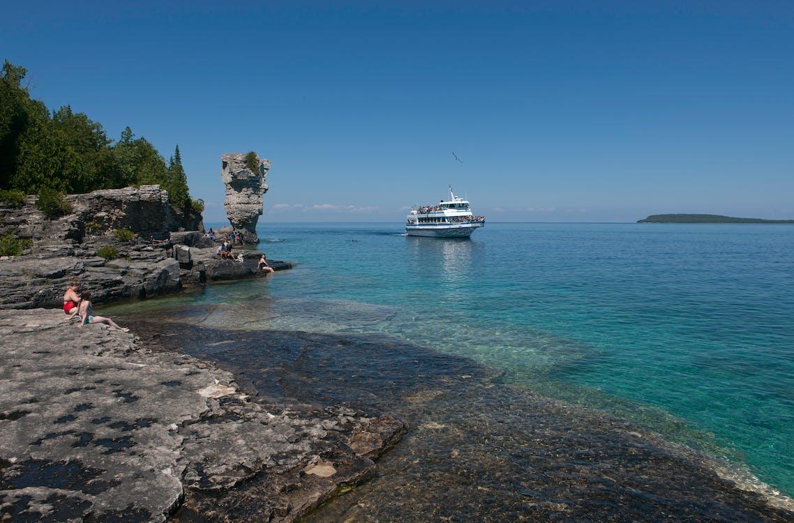 Free stock photo of flowerpot island, geological formation, georgian bay