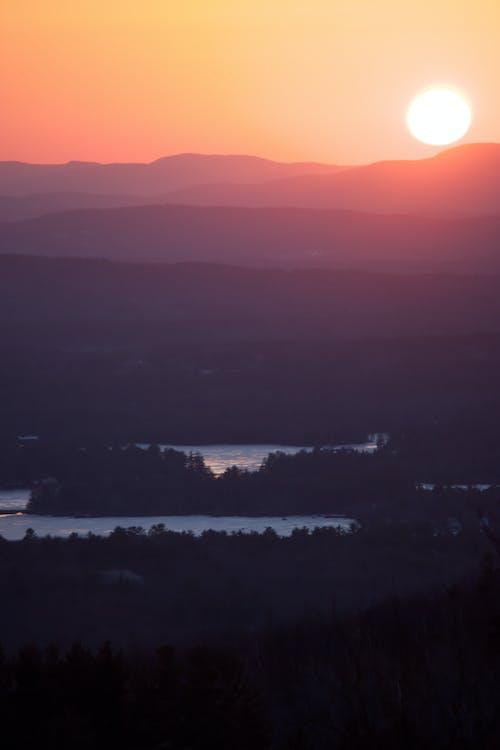 Gratis lagerfoto af bjerge, morgengry, solnedgang, solopgang